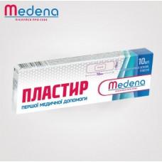 Бактерицидний пластир Medena на полімерній основі, тілесного кольору