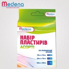 Набір бактерицидних пластирів Medena на полімерній основі, різні розміри